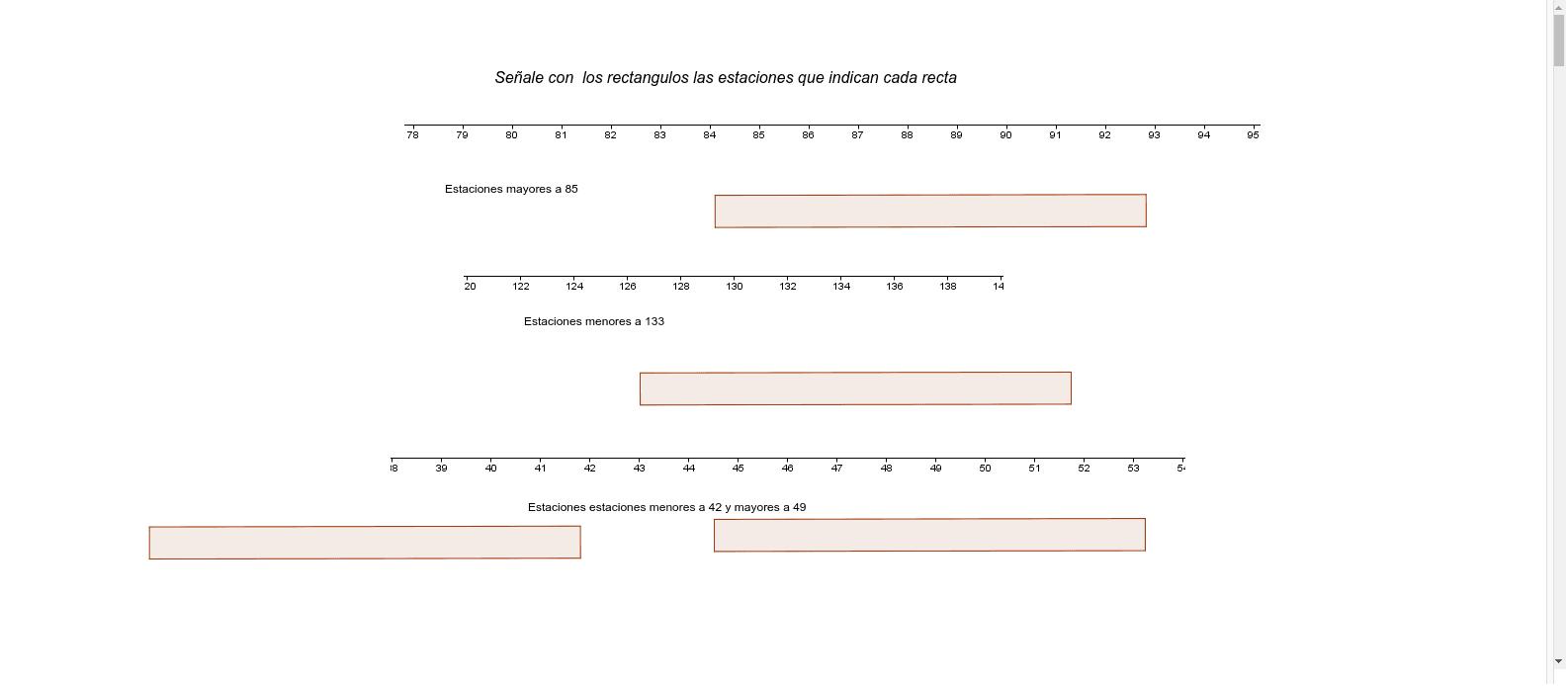 con la barras señala el enunciado indicado bajo cada segmento de recta Presiona Intro para comenzar la actividad