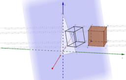 Parallelprojektion eine Würfels