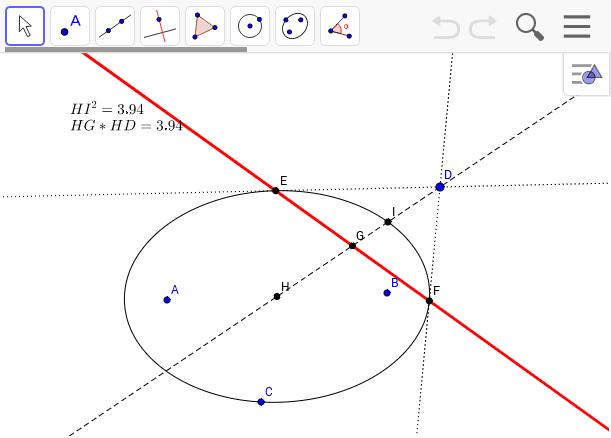 極線は楕円でも成り立ちます