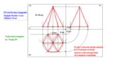 Proiezioni ortogonali - Piramide a base esagonale