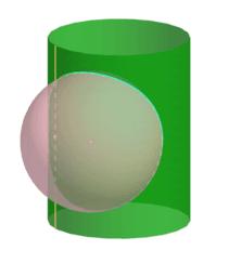 Intersecció d'un cilindre i una esfera