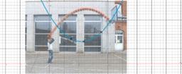 Ist ein Basketballwurf parabelförmig?