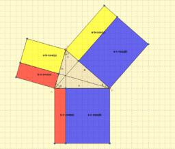 Teorema del coseno, demostración visual para triángulos acutángulos