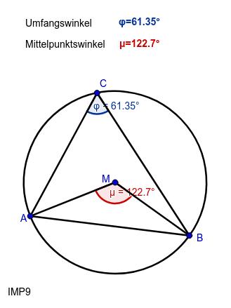 Mittelpunktswinkelsatz erkunden