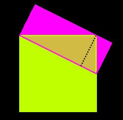 Ho concebrem com un quadrat i un rectangle, tal com es veu a la figura: