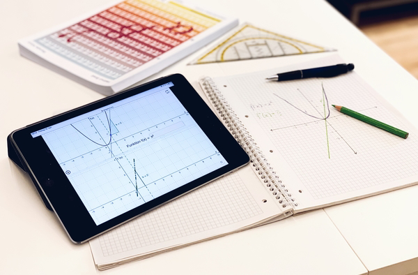 Erkunde mit Hilfe von GeoGebra den Zusammenhang zwischen einer Funktion und ihrer Ableitung.
