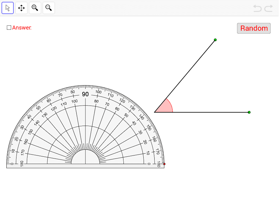 Measuring Angles Using Protractor – GeoGebra