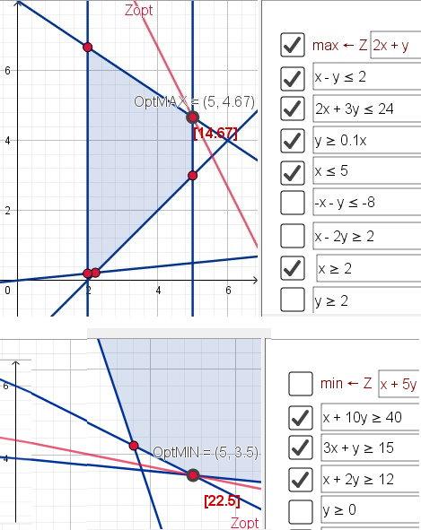 Ergebnis Beispiele 2 & 3 mit Link LP