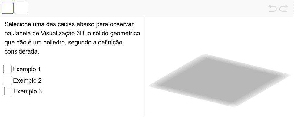 Exemplos de não poliedros - de acordo com a definição considerada