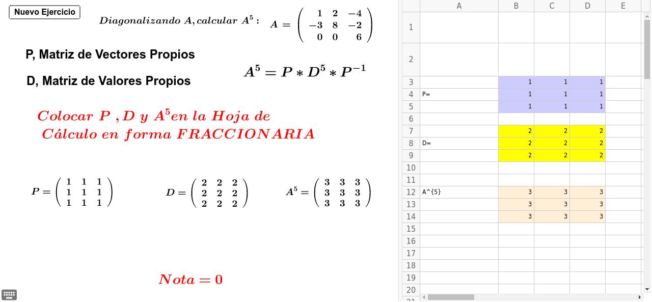 Simulador Diagonalización