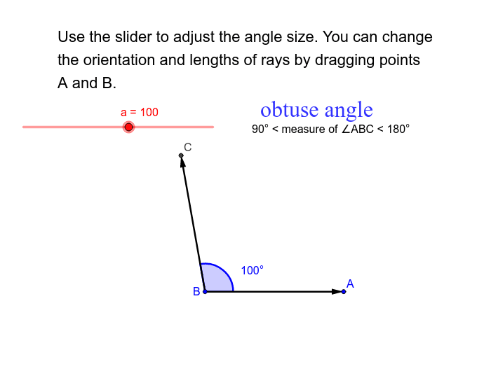 Classify Angles by Measure Press Enter to start activity