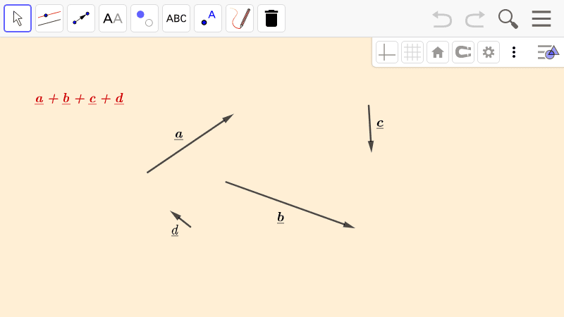 PRACTICE 1.  Addition of more vectors (with the head-to-tail rule) Press Enter to start activity