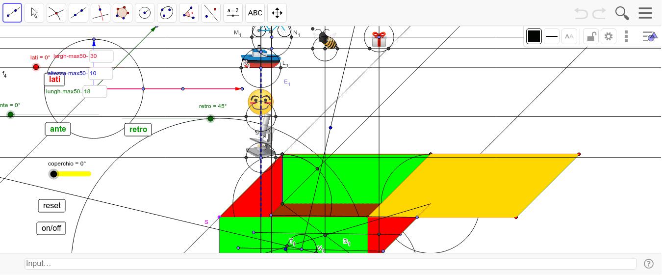 muovere lo slider coperchio per avviare l'animazione (alfa <90°)