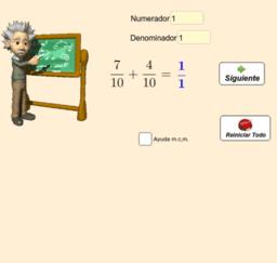Suma de Fracciones (dos sumandos)