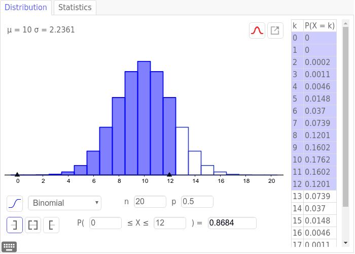 Binomial Distribution - interactive Press Enter to start activity