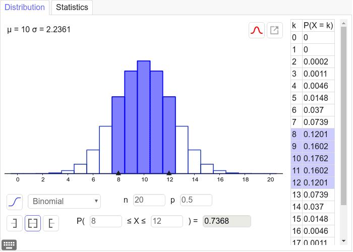 Cálculo de probabilidades de la Binomial