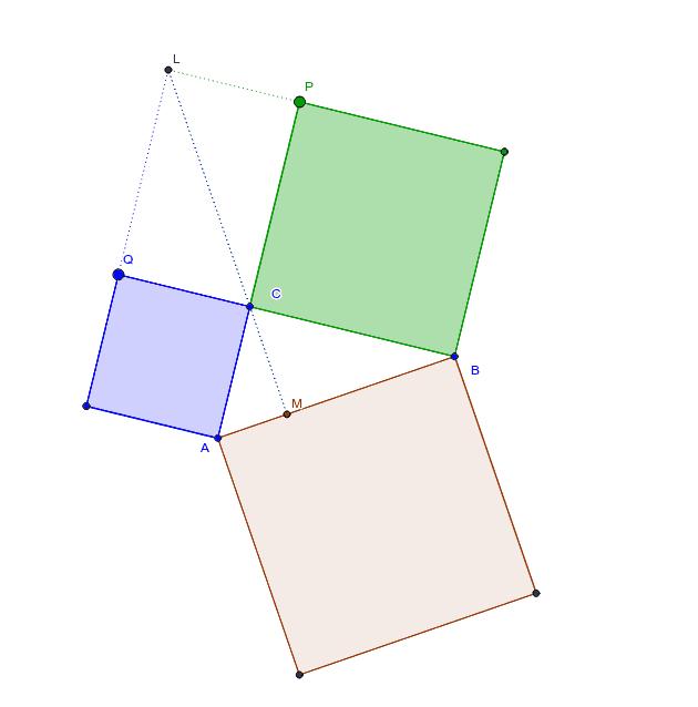 Una demostración del teorema de Pitágoras