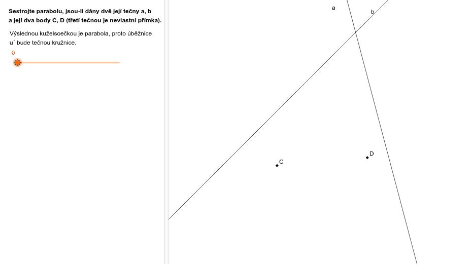 Parabola (a, b, C, D) Zahajte aktivitu stisknutím klávesy Enter