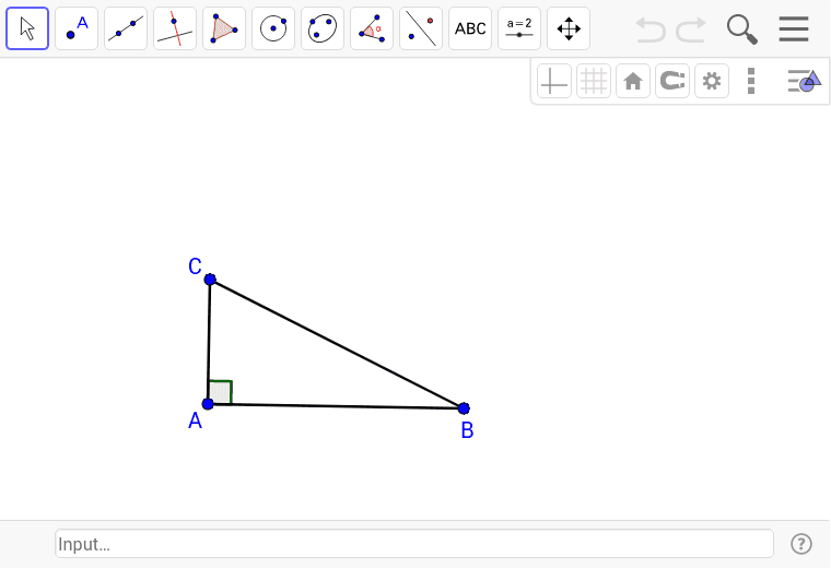Construct perpendicular bisectors on each side of the triangle. Press Enter to start activity