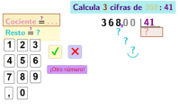 Divide por dos cifras sacando decimales