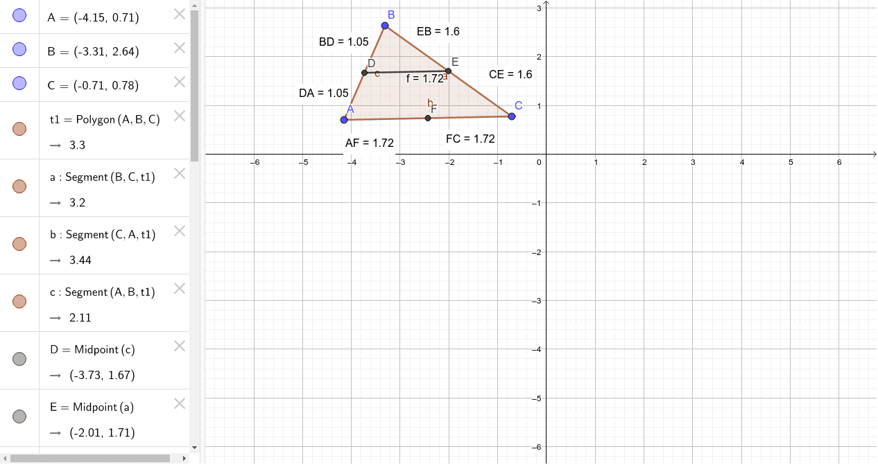 Triangle Midsegment Theorem Worksheet Geogebra
