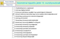 Geometriai tippelős játék 10. osztályosoknak - ismétlés