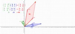 Násobení matic, hodnoty determinantů
