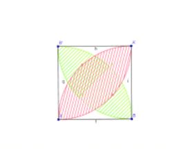 正方形与弧
