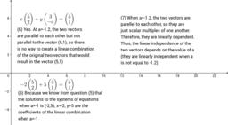 RREF Calculations questions 6+7