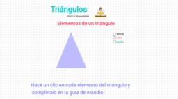 Elementos de un triángulo