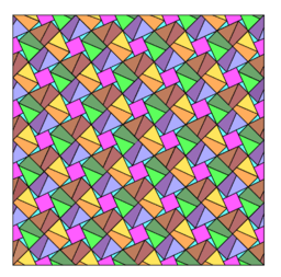 Pythagorean Theorem by Tessellation # 82 Tiling
