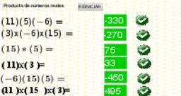 multiplicacion de números enteros