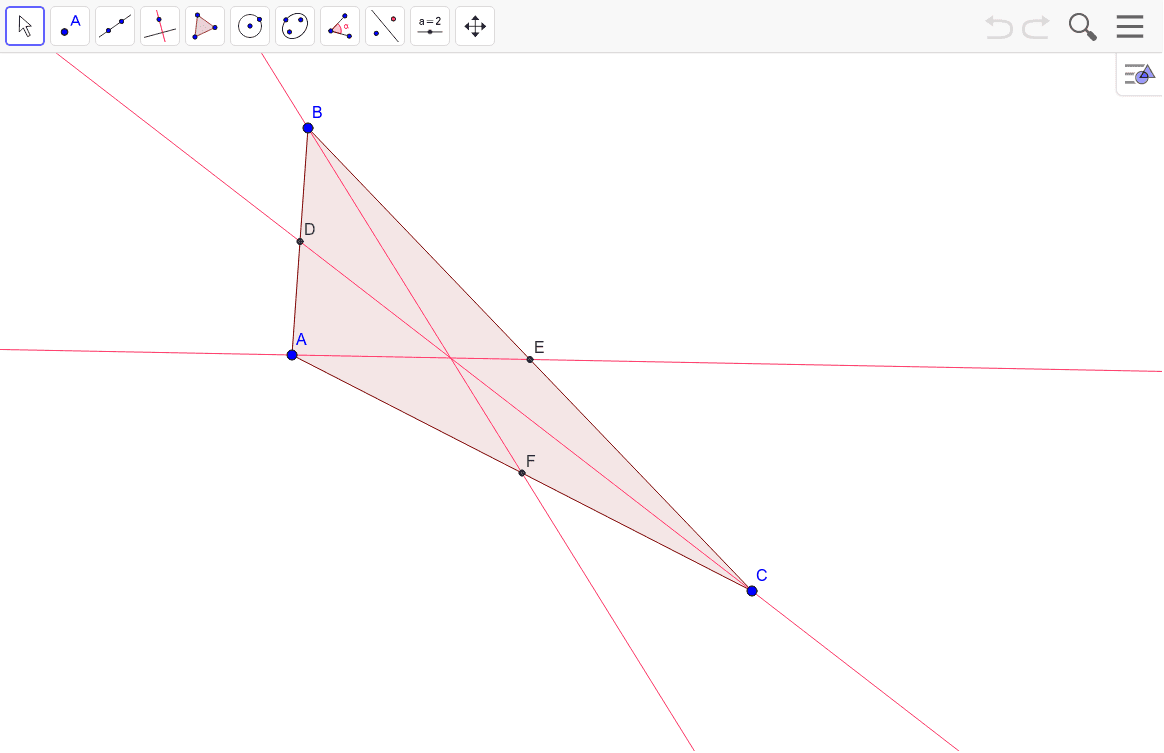 Mark the centroid. Then drag the vertices to observe the changes.