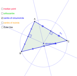 Points of intersection (Euler line)