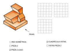 VISTAS/ISOMETRÍA (pieza 2)