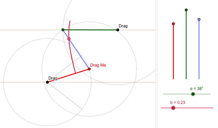 Watt's straight-line mechanism. Press Enter to start activity