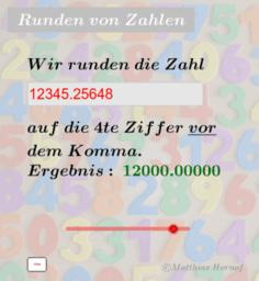 Runden von Zahlen