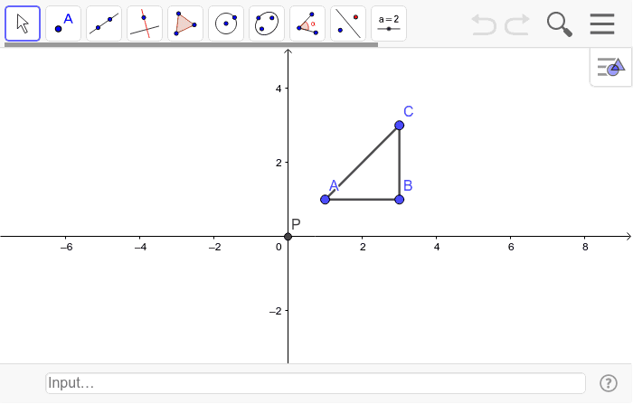 1. Rotate Triangle ABC 70 degrees (Counterclockwise) Press Enter to start activity