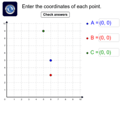 Writing coordinates