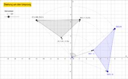 Drehung um Ursprung, Dreieck
