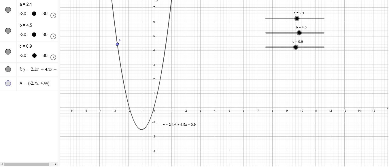 Puntu bat parabolan Sakatu Enter jarduera hasteko