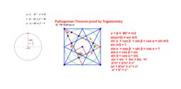 Pythagorean Theorem proof by Trigonometry