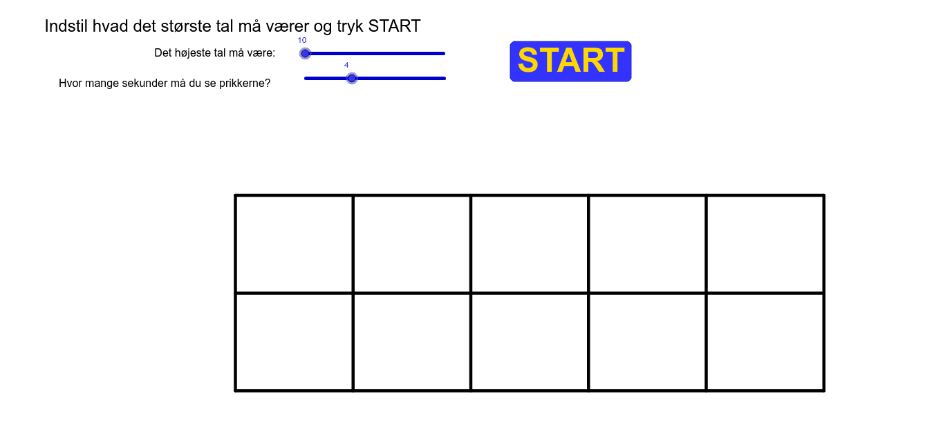 Beskriv med et regneudtryk hvordan du ser tallene Press Enter to start activity