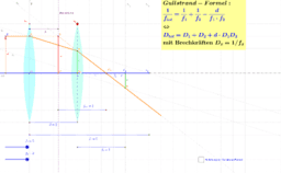 Zwei Linsen - Gullstrand-Formel