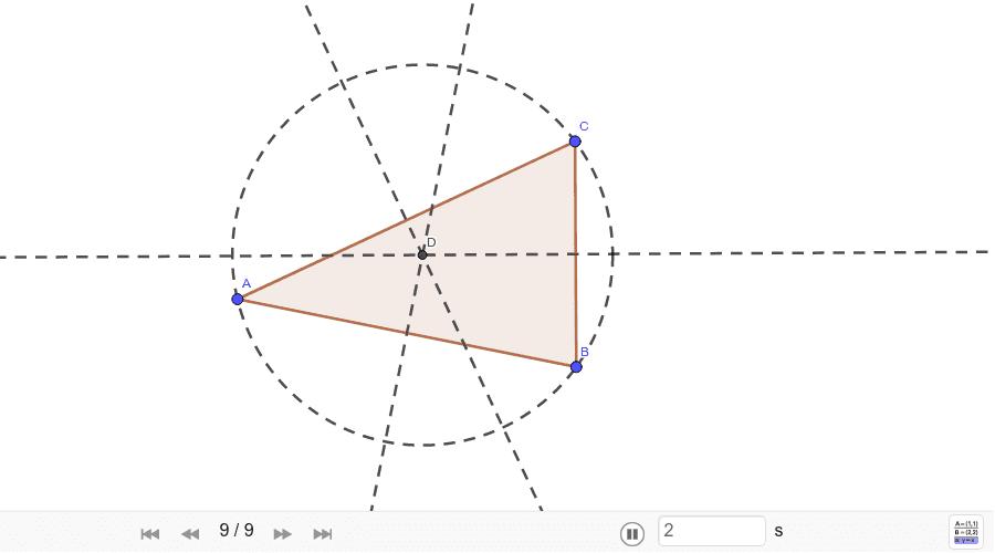 Circunferencia circunscrita a un triángulo Presiona Intro para comenzar la actividad