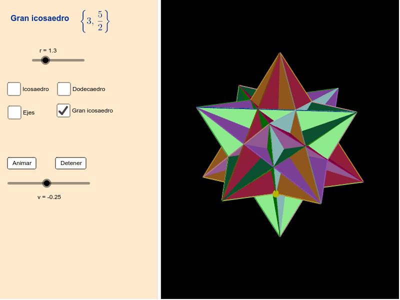 Gran icosaedro Presiona Intro para comenzar la actividad