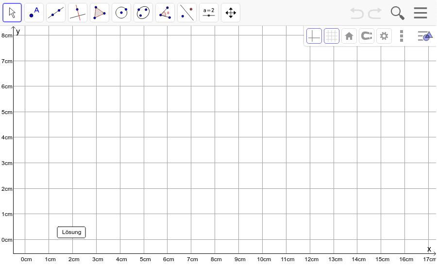 Dreieck 4: A(5/1), B(8/0), C(16/5) : Zeichne das Dreieck und konstruiere den Schwerpunkt S. Füge den Screenshot der Koordinaten von S im Auftrag in Teams ein! Drücke die Eingabetaste um die Aktivität zu starten