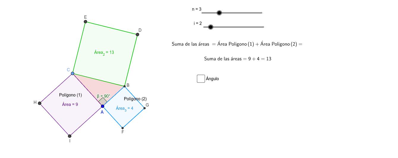 Exploramos Áreas (Pitágoras) Presiona Intro para comenzar la actividad