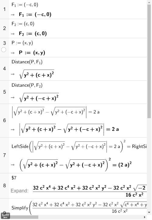 Speciális hiperbola egyenlete Press Enter to start activity