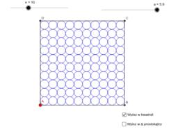Okręgi wpisane w kwadrat/tr.prostokątny